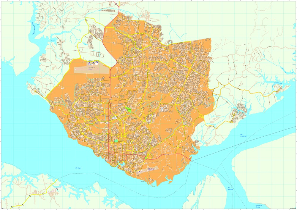 Download Manaus Vector Maps as digital file Purchase online our