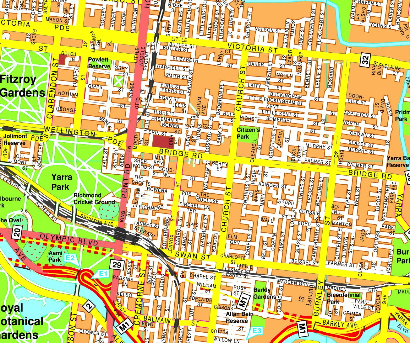 Melbourne streetmap