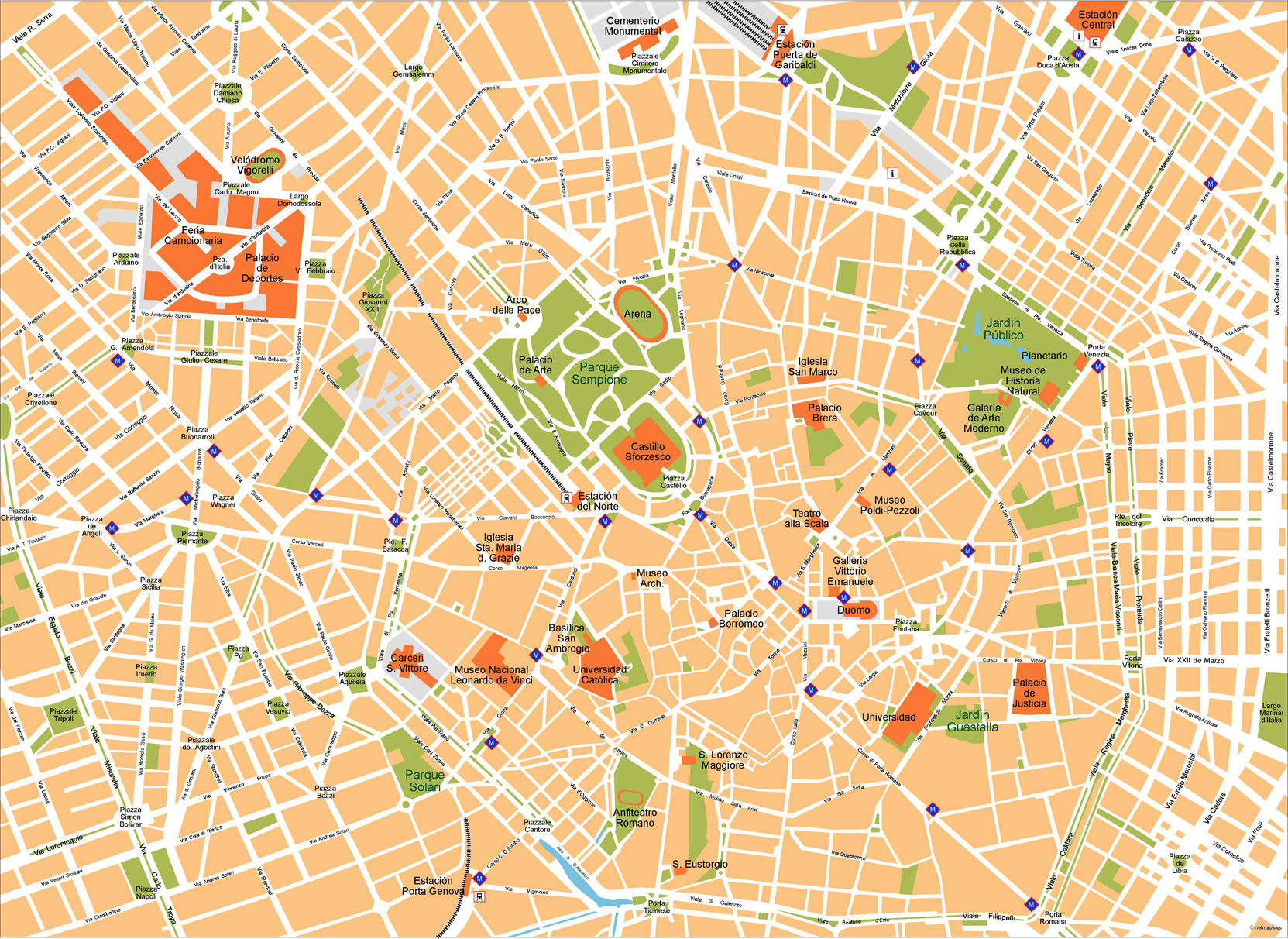 Milano Map