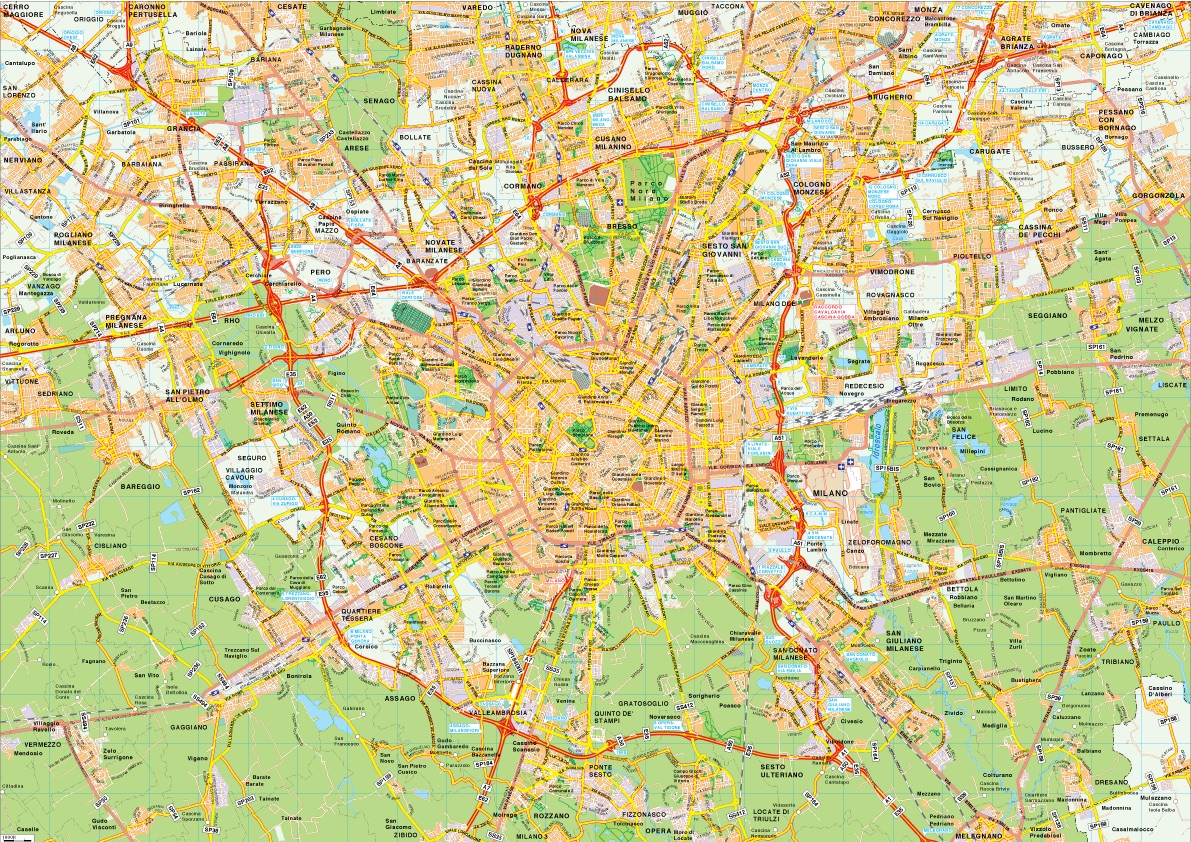 Milano map vector