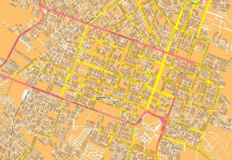 Natal streetmap