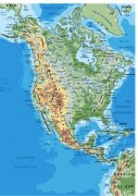Norte-america_continente vector map