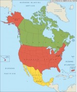 North_America_States vector map