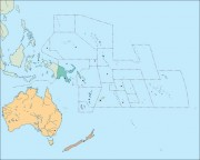 Oceania vector map