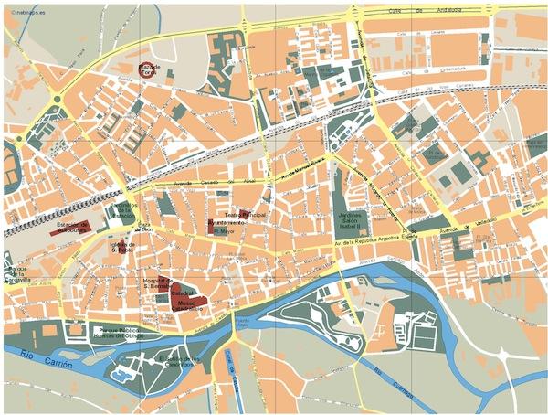 Palencia map