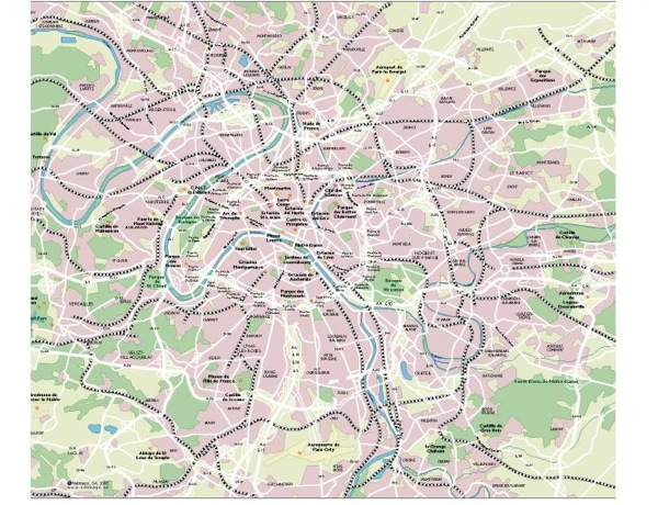Paris Metropolitanean Map