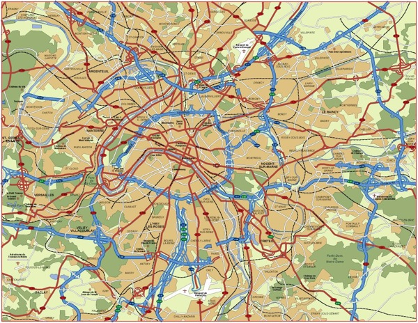 Paris vector area map