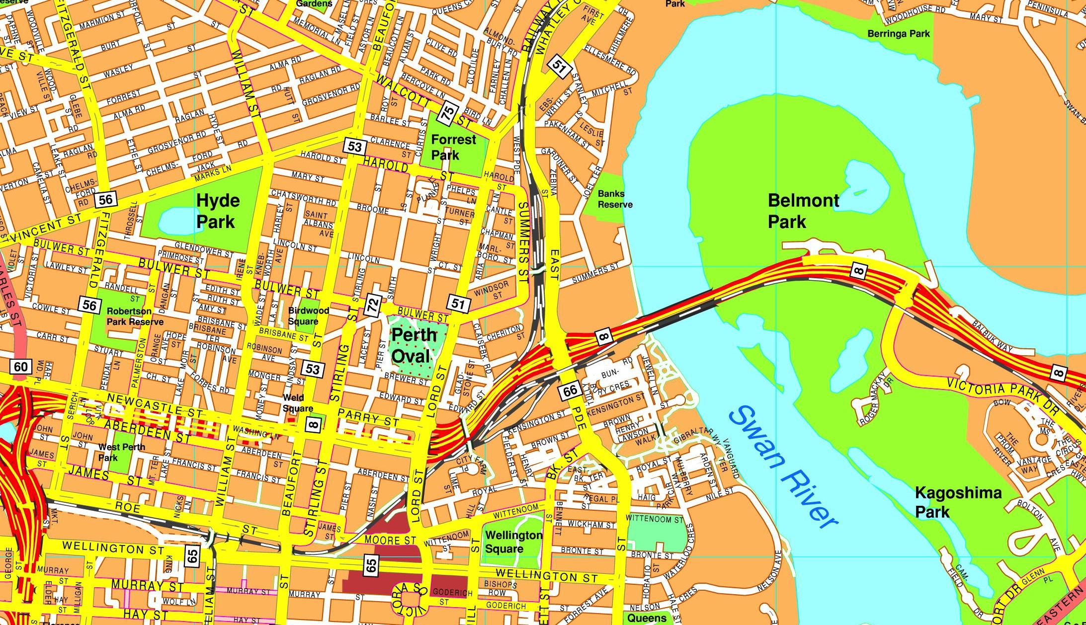 Perth streetmap