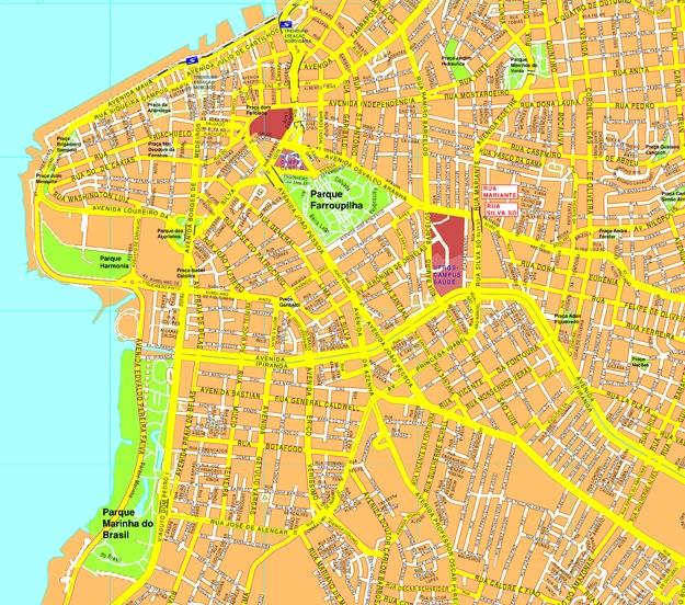 Porto Alegre streetmap