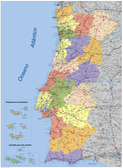 mapa de portugal digital Download Portugal Vector Maps. Cartography Illustrator and eps  mapa de portugal digital