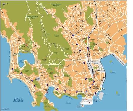 Rio de Janeiro city map