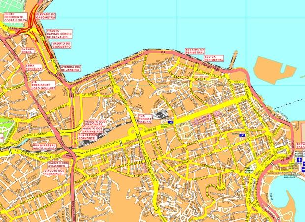 Rio Janeiro Streetmap