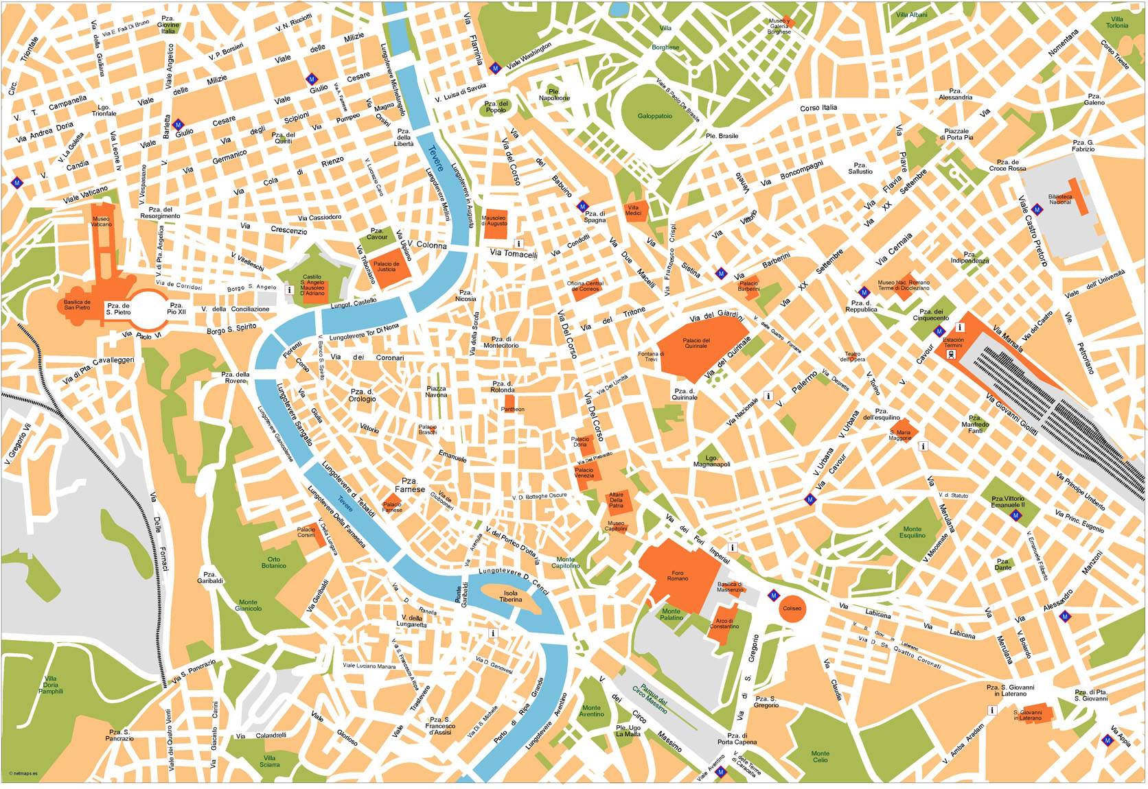 Download Roma Vector Maps As Digital File Purchase Online Our - Rome map download