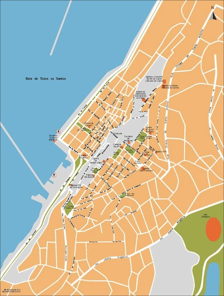 Salvador Bahia city map