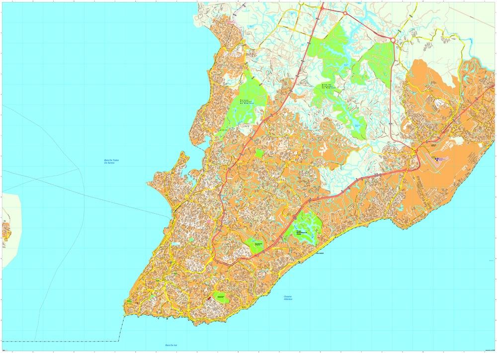 Salvador Bahia map