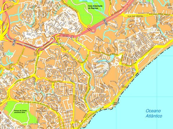 Salvador Bahia streetmap
