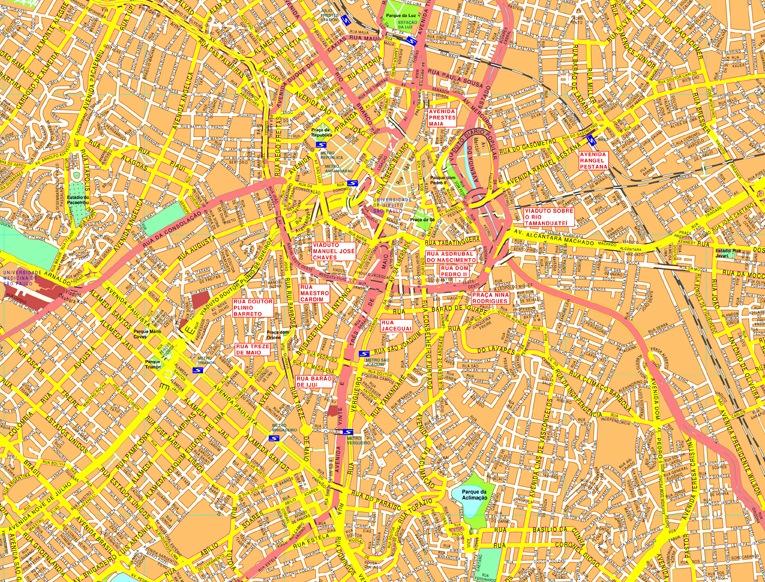 Sao Paulo streetmap