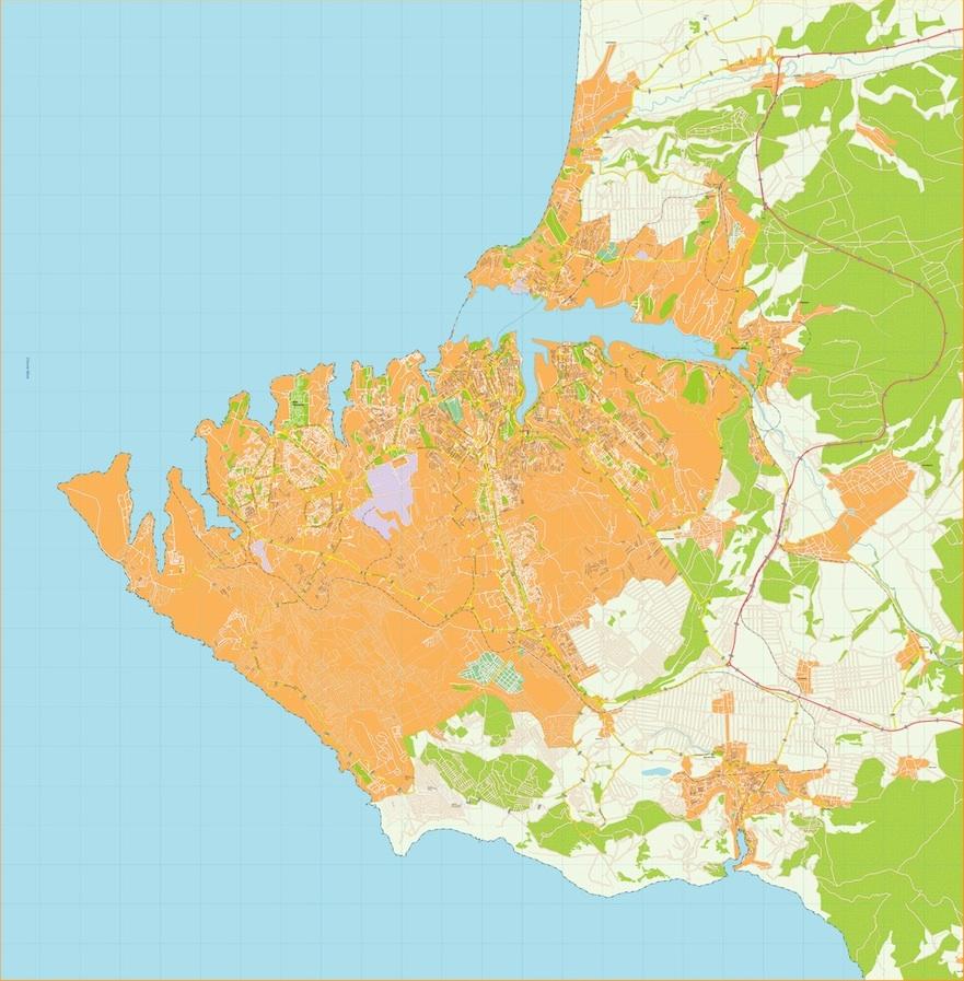 Sebastopol vector map