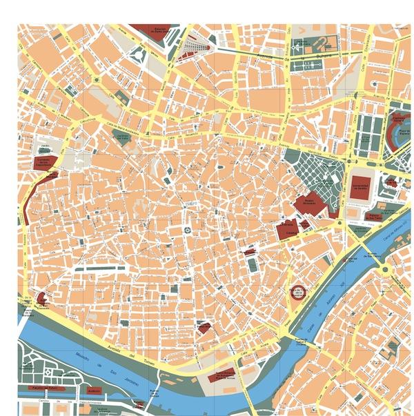 Sevilla Map Illustrator Vector Eps Maps