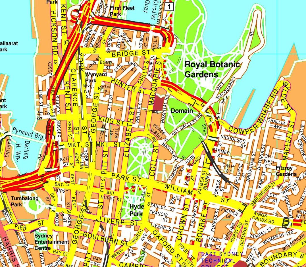 Sydney streetmap