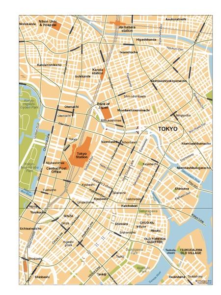Tokyo City Center Map