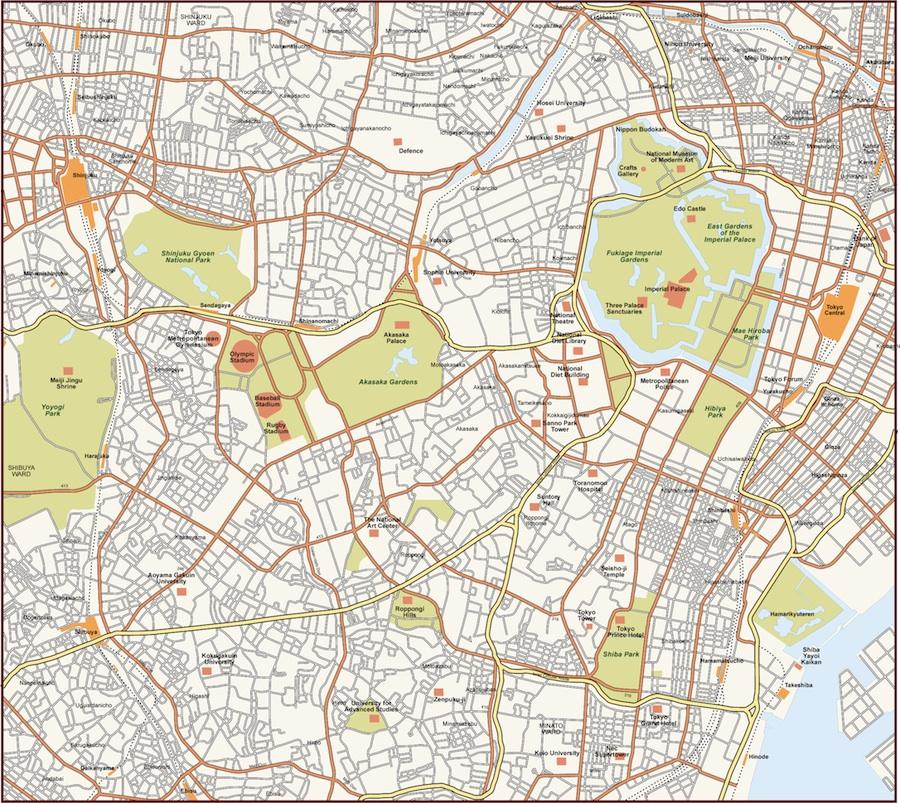 Tokyo Vector Map