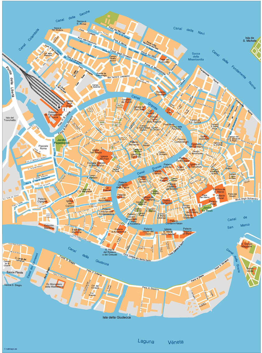 Download Venezia Vector Maps As Digital File Purchase Online Our - San francisco map vector free download
