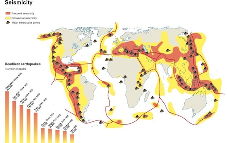 World Seismicity map