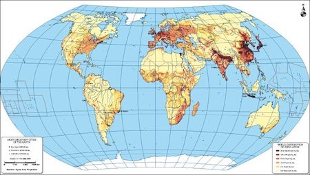 World population map
