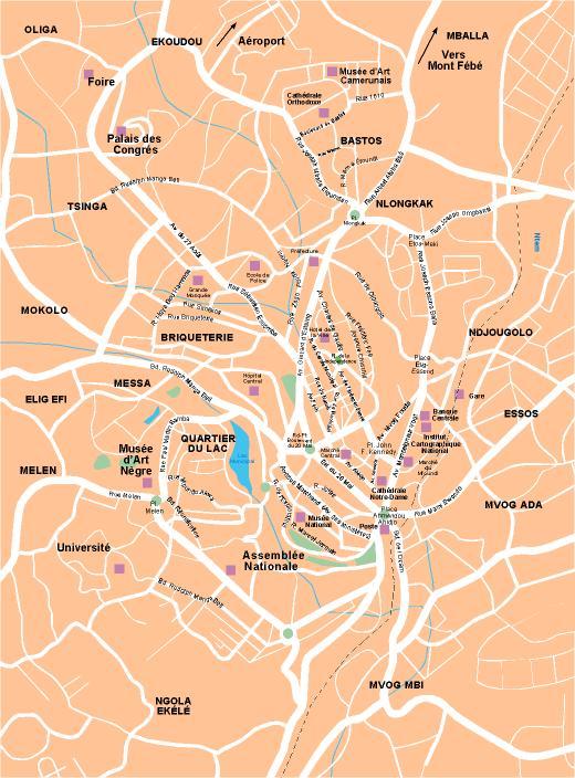 carte vector Yaounde