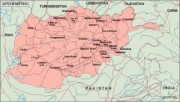 afghanistan_geography vector map