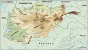 afghanistan_topographical vector map vector map