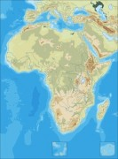 africa-physical-blank vector map