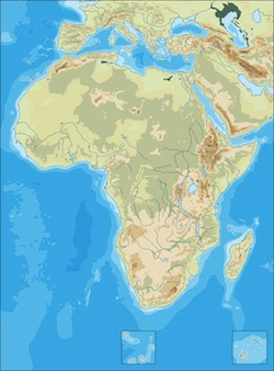 africa physical blank map