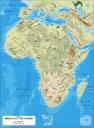 africa-physical_continent vector map