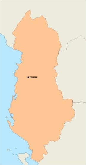 albania blank map