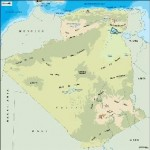 algeria_topographical vector map