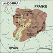 andorra_topographical vector map
