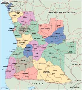 Download Angola Vector Maps Illustrator Eps Files As Digital - Angola provinces map