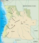 angola_topographical vector map