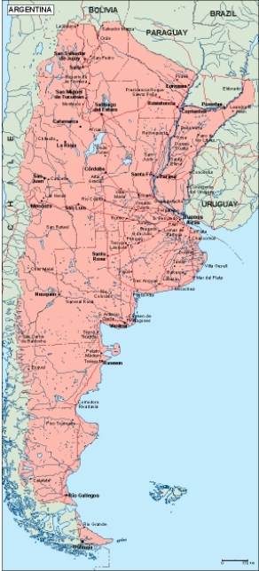 argentina geographical map