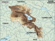 armenia_topographical vector map