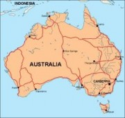 australia_countrymap vector map