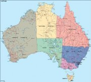australia_political vector map