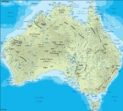 australia_topographical vector map