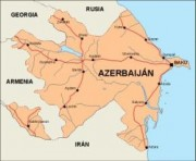 azerbaijan_countrymap vector map