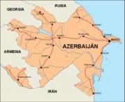 azerbaijan_countrymap vector map