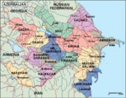 azerbaijan_political vector map