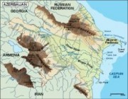azerbaijan_topographical vector map