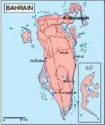 bahrain_geography vector map